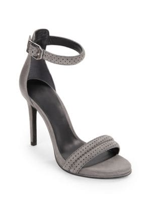 Brooke Leather and Suede Open-Toe Sandals by Kenneth Cole New York