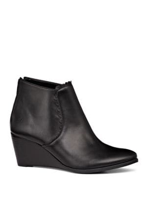 Jr Emery Leather Wedge Booties by Jack Rogers