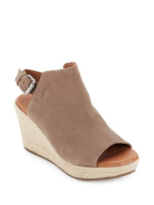 Katie Nubuk Espadrille Wedge Sandals by Gentle Souls