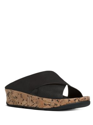 Kys TM Leather Wedge Sandals by FitFlop
