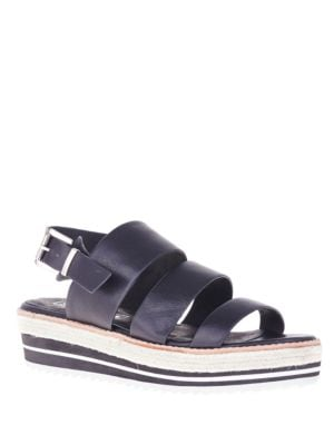 Marla Leather Wedge Sandals by Sol Sana