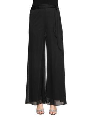 Side-Sash Mesh Dress Pants by Alex Evenings