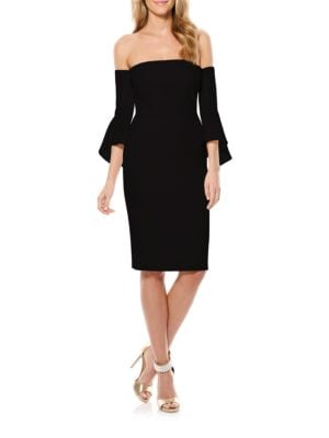 Off-The-Shoulder Bell Sleeve Sheath Dress by Laundry by Shelli Segal
