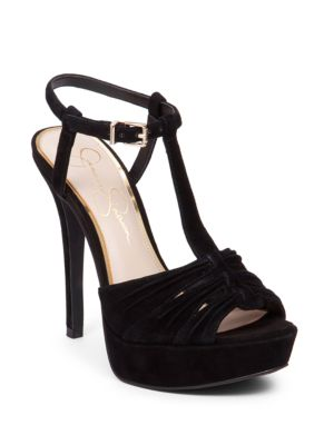 Bassie Kid Suede T-Strap Sandals by Jessica Simpson
