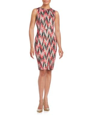 Abstract Sheath Dress by Calvin Klein