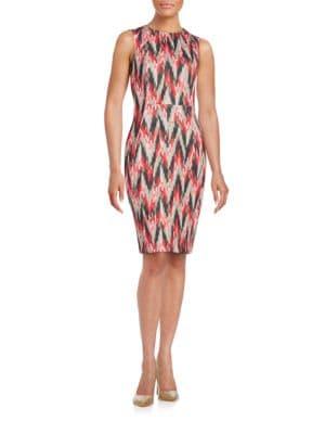 Abstract Sheath Dress by Calvin Klein