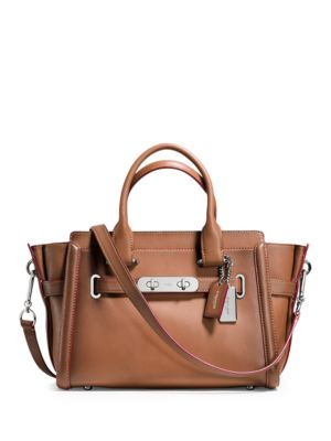 Swagger Leather Satchel by COACH