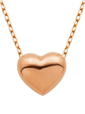 Puffed Heart Pendant Necklace 500043468073