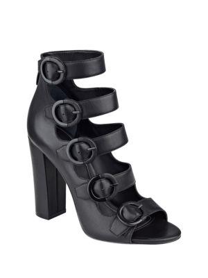 Evie Suede Multi-Strap Block Heel Sandals by KENDALL + KYLIE
