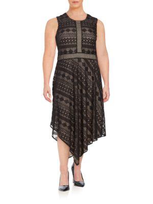 Asymmetric Lace Dress by London Times
