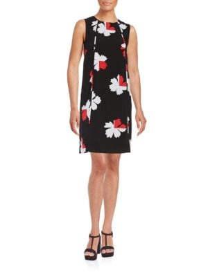 Floral Pleated Shift Dress by Tommy Hilfiger