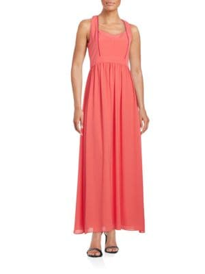 Halter V-Neck Gown by Belle Badgley Mischka