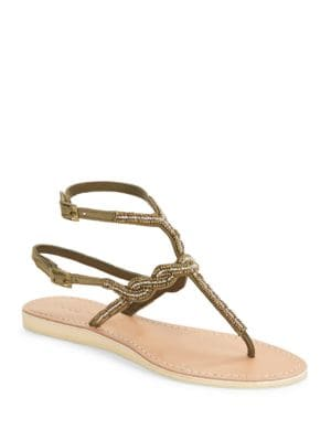 Nevis Embellished Thong Sandals by Cocobelle