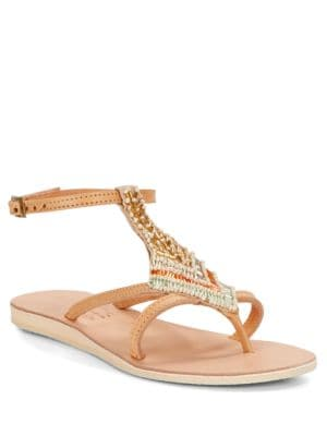 Arrow Beaded Sandals by Cocobelle
