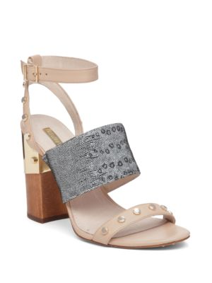 Kellyn Studded Triple Strap Leather Sandals by Louise et Cie