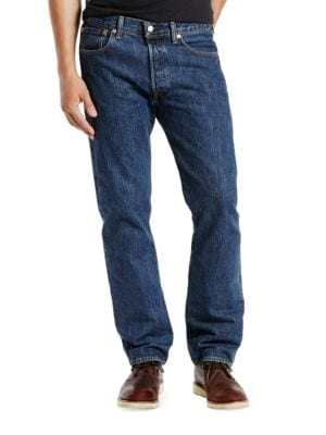 Big and Tall 501 Dark Stonewash Jeans by Levi's