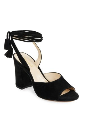 Bellermo Suede Open-Toe Heels by Nine West