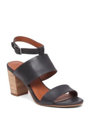 Jodalee Stacked Heel Leather Sandals by Lucky Brand