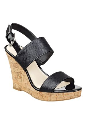 Lucini Cork Wedge Sandals by Nine West