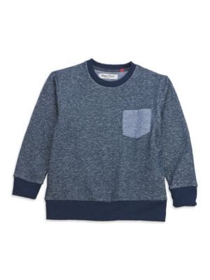 Toddlers  Little Boys Contrast Pocket Sweater