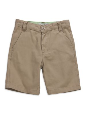 Khaki Kanji Shorts @...