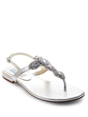 Gem Embellished Thong Sandals by Betsey Johnson
