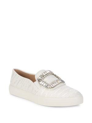 Ermine 2 Embellished Slip-On Sneakers by Karl Lagerfeld Paris