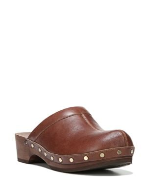 Original Leather and Wooden Mules by Dr. Scholl's
