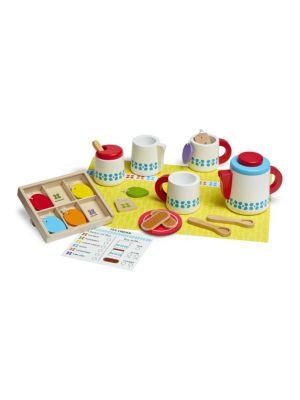 Wooden Steep and Serve Tea Set