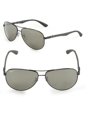 Pilot 61MM Mirrored Sunglasses by Ray-Ban