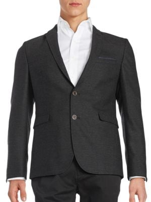 Wool Two-Button Jacket by Michael Kors