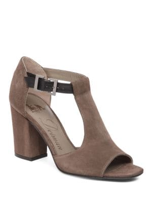 Alfie Gryle Suede T-Strap Sandals by Delman