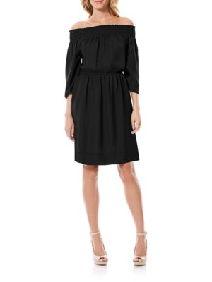 Solid Off-The-Shoulder Dress by Tadashi Shoji