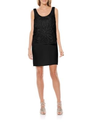 Embellished Popover Chiffon Dress by Laundry by Shelli Segal