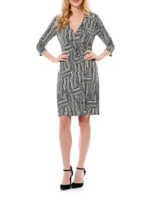Patterned Wrap Dress by Laundry by Shelli Segal