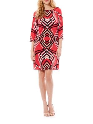 Contrast Print Shift Dress by Laundry by Shelli Segal