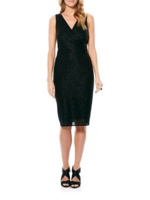 Beaded Wrap Dress by Laundry by Shelli Segal