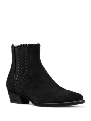 Buy Presley Whipstitched Suede Booties by Michael Kors Collection online