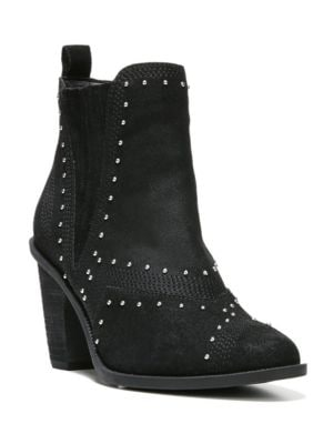 Dina Studded Suede Ankle Boots by Fergie