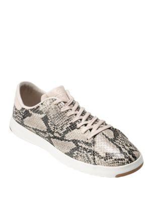 GrandPro Tennis Snake-Embossed Leather Sneakers by Cole Haan