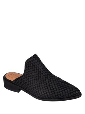 Dylan Embossed-Leather Mules by Corso Como