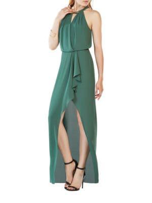 Amanda Plate Collar Gown by BCBGMAXAZRIA