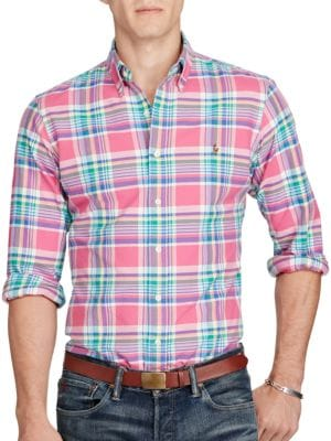 Plaid Oxford Sportshirt by Polo Ralph Lauren
