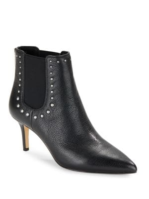 Dyllon Studded Leather Booties by 424 Fifth