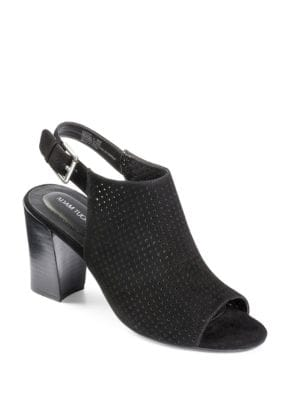 Meridia Perforated Suede Sandals by Me Too