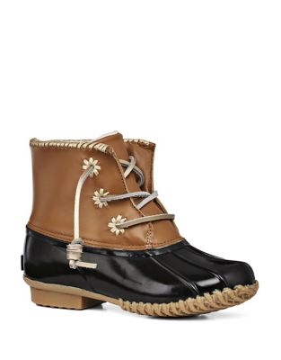 Chloe Classic Whipstitch Leather & Rubber Boots by Jack Rogers