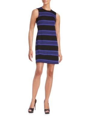 Striped Knit Sheath Dress by Calvin Klein
