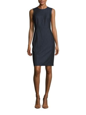 Chambray Sheath Dress by Calvin Klein