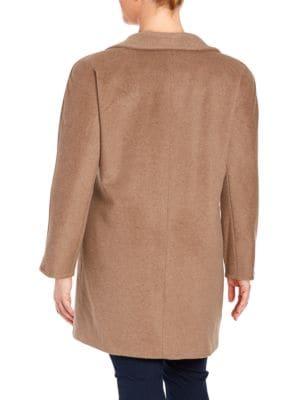 Plus Pickstitched Wool-Blend...