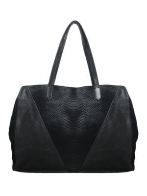 Leather & Calf Hair Tote 500044761971